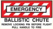 BALLISTIC CHUTE DECAL