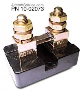 uma external ammeter shunt from aircraft spruce Ammeter Shunt Resistor (click image for a larger view)