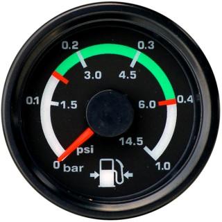 Ul flight line 2 inch fuel pressure gauge 0 1 bar 0 145 psi from click image for a larger view altavistaventures Images