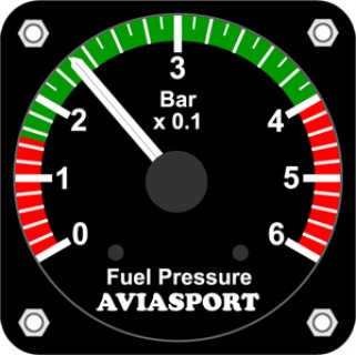 Aviasport rotax 912 fuel pressure gauge bar 2 14 in from click image for a larger view altavistaventures Images