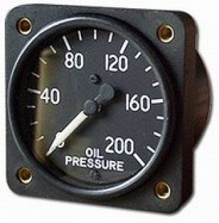Military oil pressure gauge 0 200 psi from aircraft spruce thecheapjerseys Choice Image