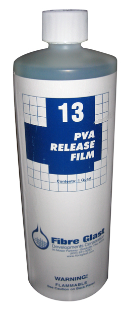 PVA (Polyvinyl Alcohol) should be used with #1016 Wa x to aid in the release