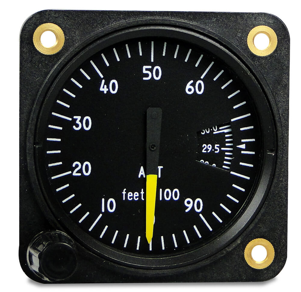 how to read sensitive altimeter