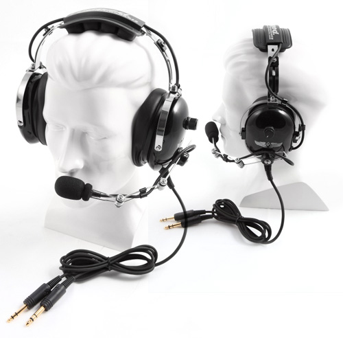H42 Black 2 Way Radio Headset H42 Blk: Rugged Headsets