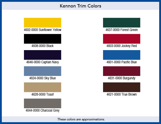 Trim Color Chart