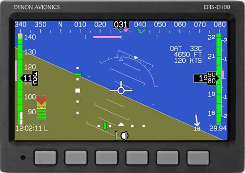 DYNON AVIONICS EFIS-D100 WITH SUPER BRIGHT SCREEN from Aircraft Spruce