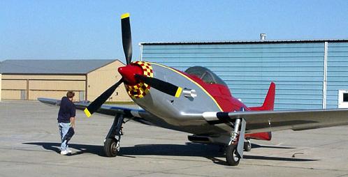 P 51 Carbon Fiber Mustang