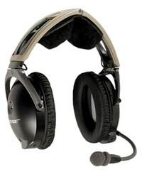 bose x aviation headset. used bose x headset, dual ga plugs, battery powered, straight or coiled cord aviation headset s