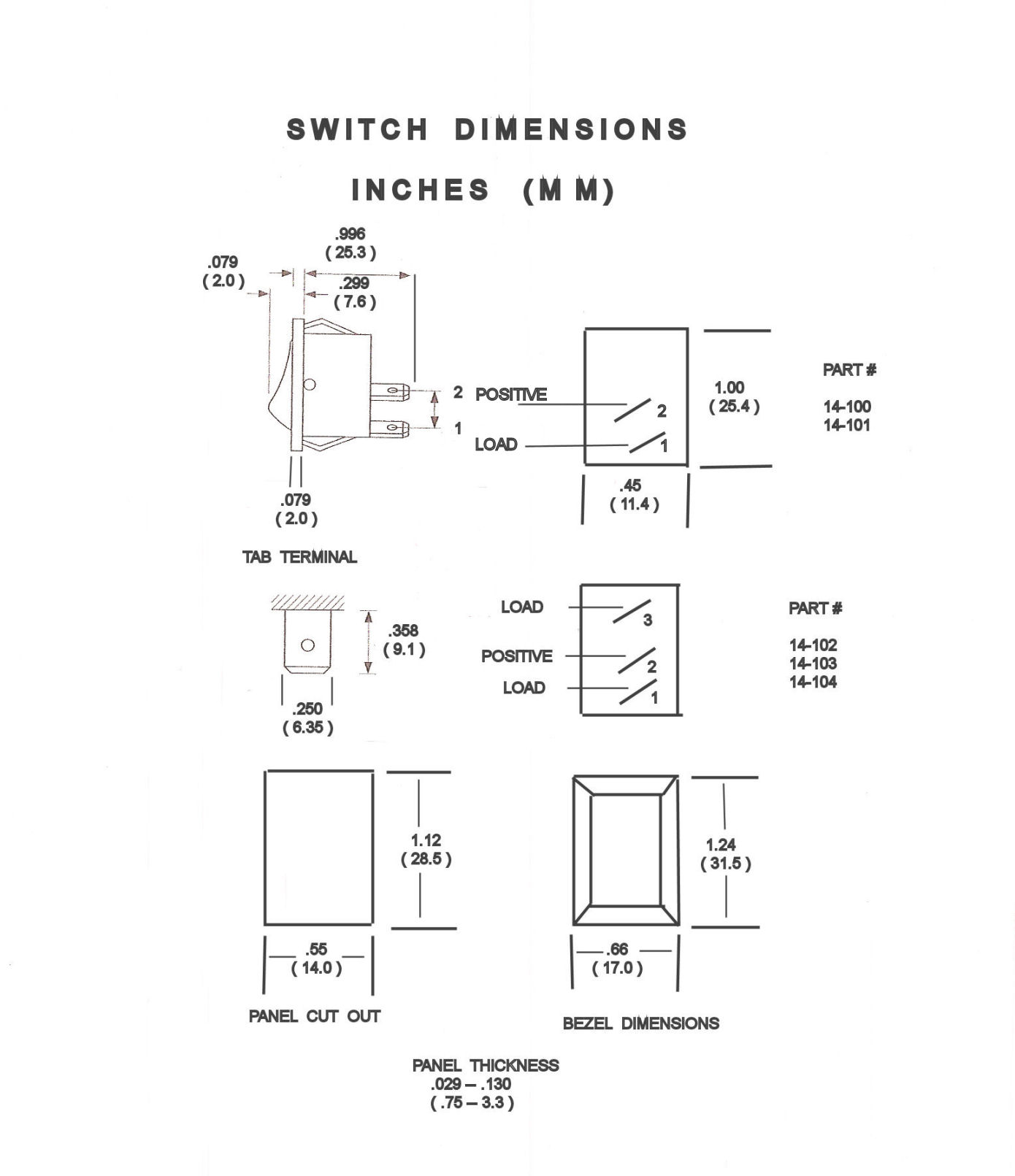 rockerswitchdraw rocker switches non illuminated single pole from aircraft spruce cessna master switch wiring diagram at crackthecode.co