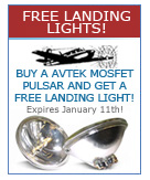 Buy a AvTek Mosfet Pulsar and Get a FREE Landing Light!