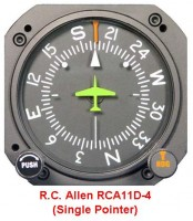 RC ALLEN VACUUM DIRECTIONAL GYRO FACTORY OVERHAULED RCA11A