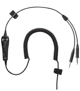 bb87d5c2b36 BOSE A20® HEADSET CABLE - DUAL GA PLUGS COILED CORD ELECTRET MIC ...
