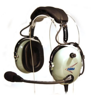 c 20 cobra aviation headset with flex boom mic dual ga plugs from