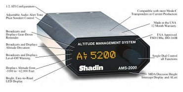 Stupendous Shadin Ams 2000 Altitude Management And Alert System From Aircraft Wiring Cloud Hisonuggs Outletorg