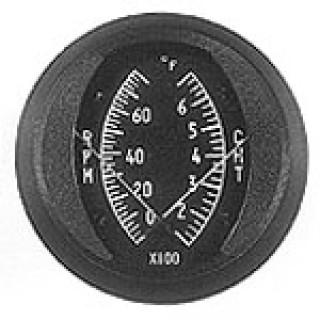 SWIFT GAUGE DUAL 2 INCH ROUND CHT/TACHOMETER GAUGE 100-700°F/0-8000rpm