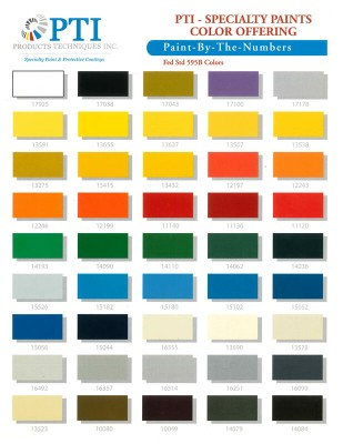 PTI SPECIALTY PAINT COLOR CHART | Aircraft Spruce