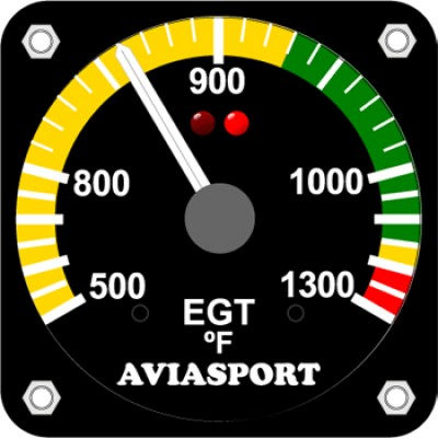 AVIASPORT ROTAX 582 EGT GAUGE FAHRENHEIT - 2 1/4 INCH
