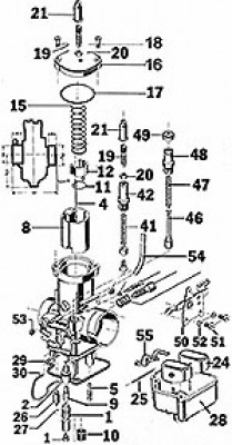 REPLACEMENT PARTS FOR BING TYPE 54 CARBURETOR