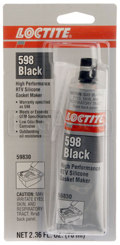 LOCTITE 598 BLACK HIGH PERFORMANCE RTV SILICONE GASKET MAKER