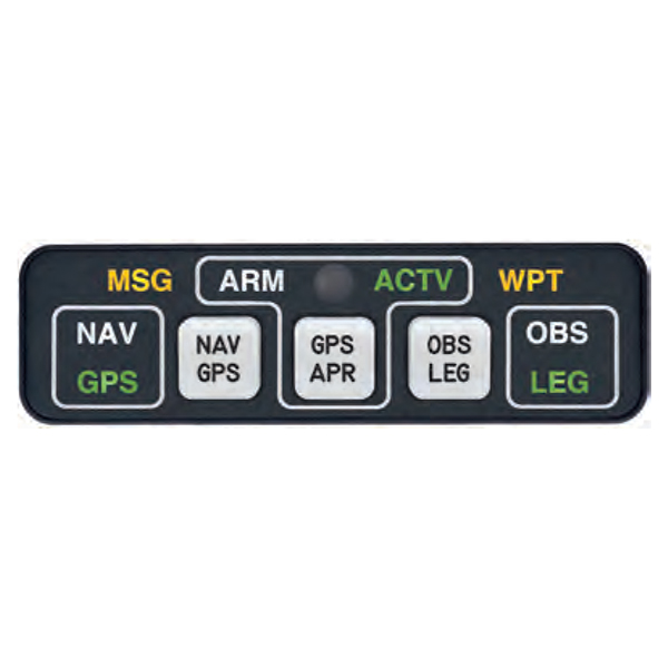 MID-CONTINENT AVIONICS ANNUNCIATION CONTROL UNIT HORIZONTAL FOR GPS KLN-900