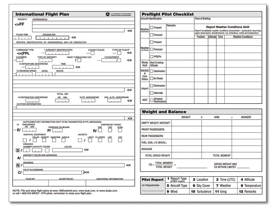 ASA-FP-3 VFR Flight Planner