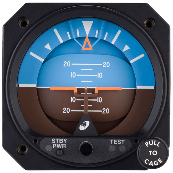 "MID-CONTINENT INSTRUMENTS AND AVIONICS ""LIFESAVER"" ELECTRIC ATTITUDE  INDICATOR WITH BATTERY BACKUP"