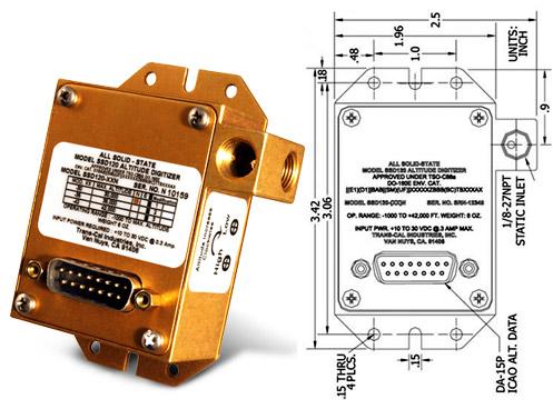 TRANS-CAL ALUDE ENCODER MODEL SSD120-30N FAA TSO on