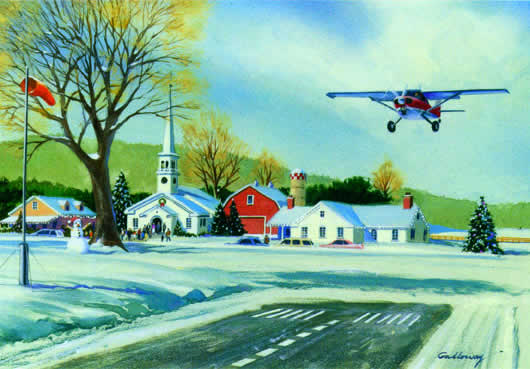 holiday homecoming greeting card 10 pack from aircraft spruce - Aviation Christmas Cards