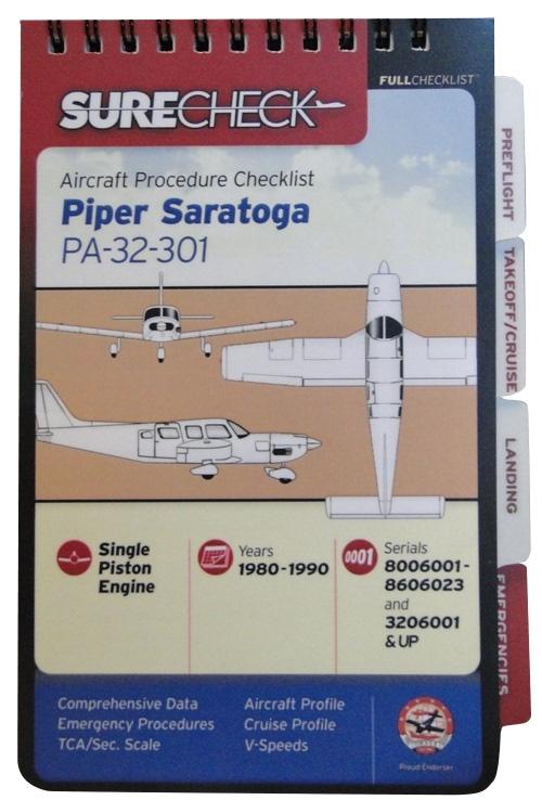 SURECHECK CHECKLIST FOR PIPER SARATOGA