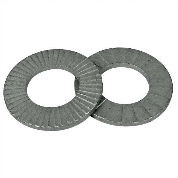 M5 1218 - Pkg of 200 #10 Delta Protekt Carbon Steel Nord-Lock 1218 Wedge Locking Washer