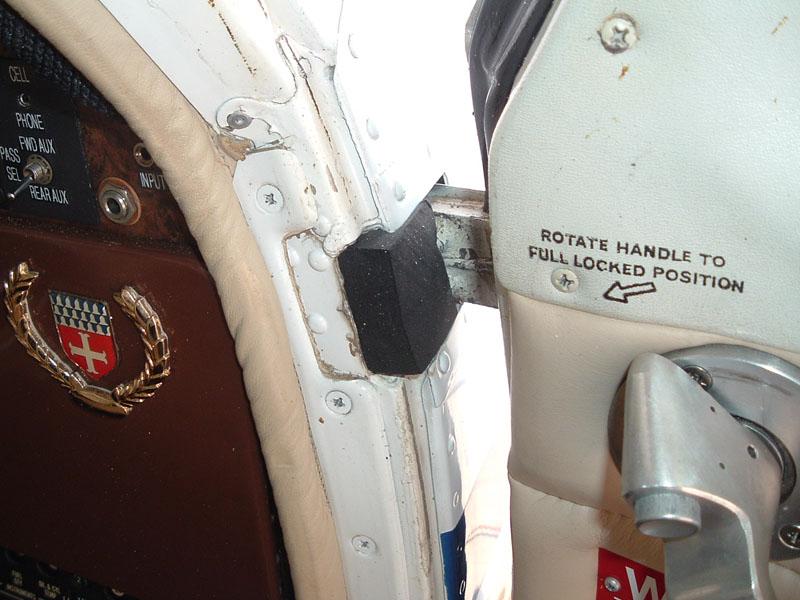 Beechcraft Front Entry Door Hinge Seals From Aircraft Spruce