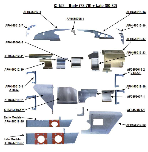 cessna 152 baffle from aircraft spruce rh aircraftspruce com cessna 172 parts manual free cessna 172n parts manual