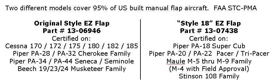 EZ FLAP FAA/PMA FLAP HANDLE EXTENSION