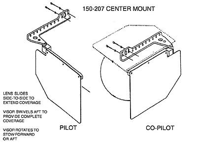 ROSEN SUN VISOR SYSTEMS from Aircraft Spruce 360001649a3