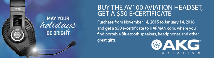 Buy the AV100 Aviation Headset, Get A $50 Gift Certificate